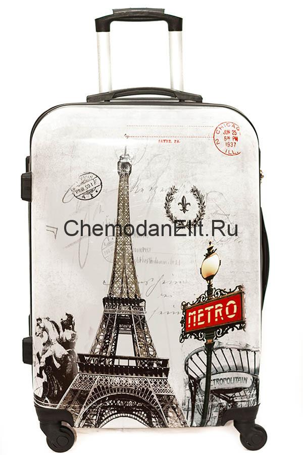 Купить чемодан на колесах с рисунком в Москве недорого